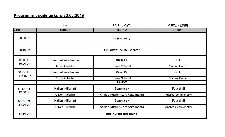 Programm Leiterkurs 23.03.2019