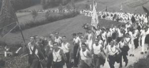 Verbandsturnfahrt nach Rüthi-Büchel 1937